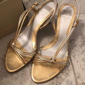 Heels- gold and silver and rose gold
